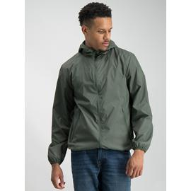 Online Exclusive Khaki Fleece Hood Shower Resistant Mac