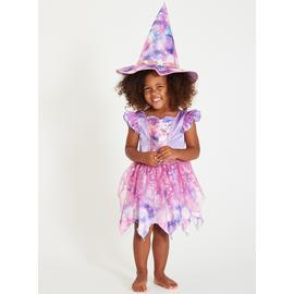 Halloween Purple Wicked Witch Costume With Hat