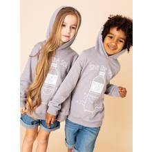 Unisex Grey 'Save The Sea' Hoodie (3 - 14 Years)