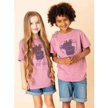 Unisex Pale Mauve 'Love Your World' T-Shirt (3 -14 Years)