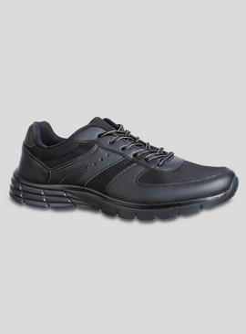 Black Classic Lace-Up Trainer