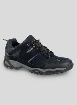 Sole Comfort Navy Leather Hiker Trainers