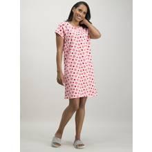 Pink Berry Print Night Dress