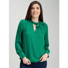 Emerald Green Tie Neck Blouse