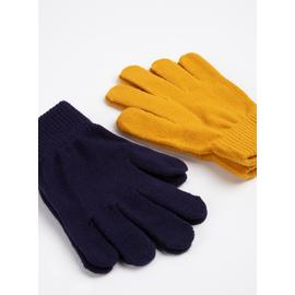 Navy & Yellow Magic Gloves 2 Pack - One Size