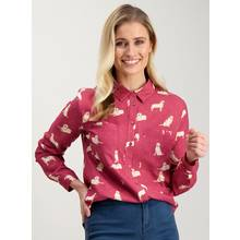 Pink Golden Retriever Print Shirt