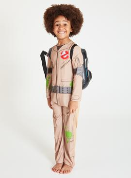 Ghostbusters Beige Costume With Proton Pack - 3-4 Years