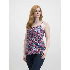 Multicoloured Floral Knot Front Soft Touch Vest