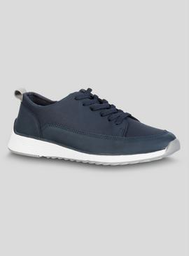 Sole Comfort Navy Blue Lace Up Trainer