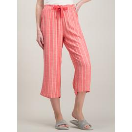 Pale Red Woven Crop Pyjama Bottoms