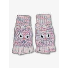 Multicoloured Owl Knitted Flip-Over Mittens