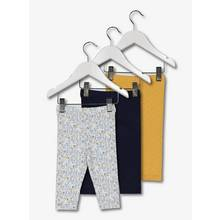Multicoloured Classic Shape Leggings 3 Pack
