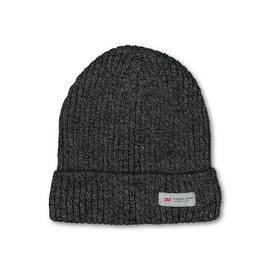 THINSULATE Charcoal Knit Rib Beanie Hat - One Size