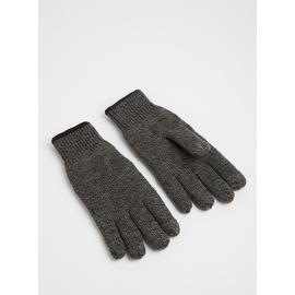 Charcoal Grey Touchscreen Finger Tip Knitted Gloves