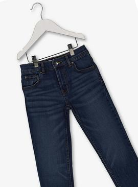 Mid Wash Blue Straight Fit Jeans