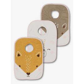 Multicoloured Forest Animal Pop-Over Bib 3 Pack - One Size