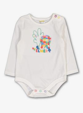Elmer White Long Sleeve Bodysuit