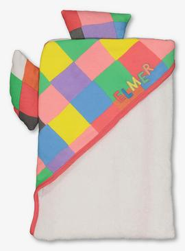 Elmer Cream Hooded Baby Towel - One Size