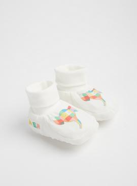 Elmer The Elephant Cream Booties