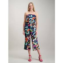 Multicoloured Tropical Print Bandeau Jumpsuit