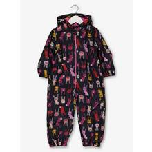 Multicoloured Bunny Print Puddlesuit