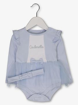 Disney Princess Cinderella Blue Tutu Bodysuit