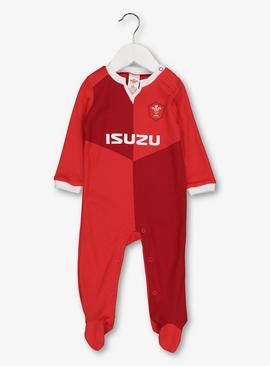 Welsh Rugby Union Red Sleepsuit