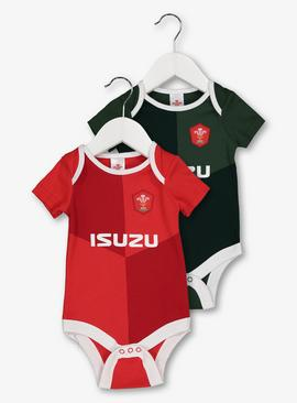 Welsh Rugby Bodysuit 2 Pack
