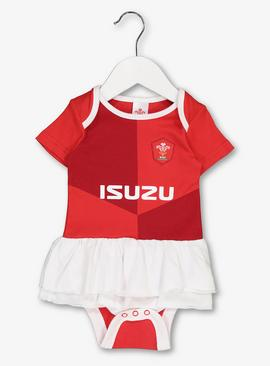 Welsh Rugby Red Tutu Bodysuit