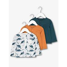 Multicoloured Dino T-Shirts 3 Pack