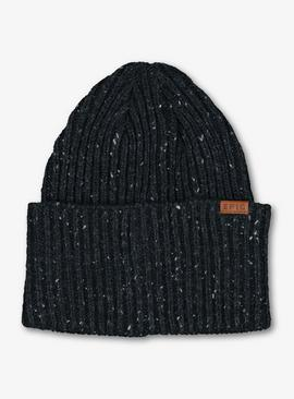 Navy Speckled Knit Beanie