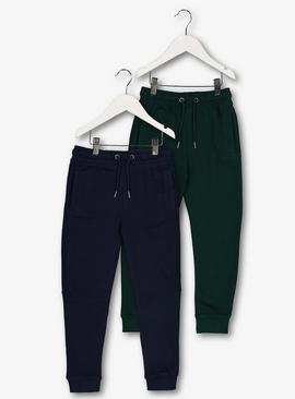 Navy & Green Joggers 2 Pack