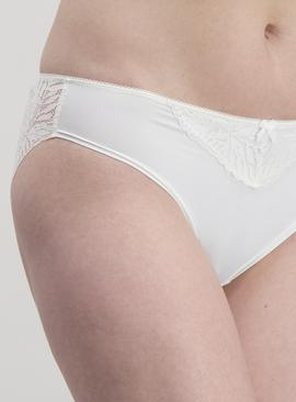Ivory Lace High Leg Knickers - 24