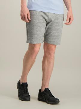 Grey Melange Jersey Shorts