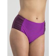 Online Exclusive Purple Stripe High Waisted Briefs
