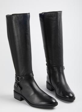 Sole Comfort Black Leather Riding Boots