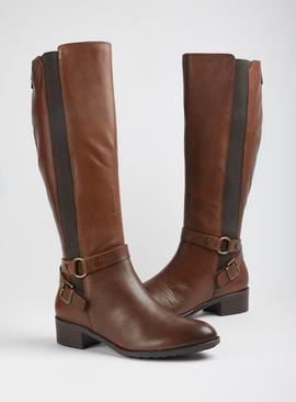 Sole Comfort Brown Leather Riding Boots