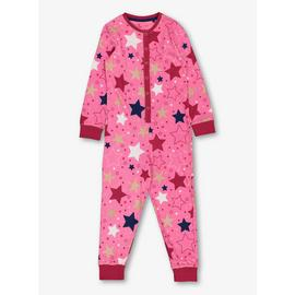 Pink Jersey Star Print All in One