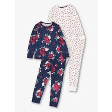 Multicoloured Floral Pyjamas 2 Pack