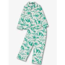 Green & White Dinosaur Woven Pyjamas