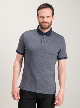 Navy Blue Cross Dye Polo Top