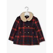 Red & Navy Formal Check Coat