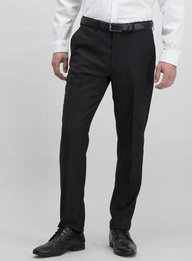 Black Textured Slim Fit Tuxedo Trousers