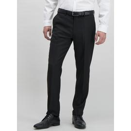 Online Exclusive Black Textured Slim Fit Tuxedo Trousers