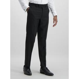 Black Tailored Fit Tux Suit Trousers With Stretch