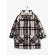 Multicoloured Check Wool Coat