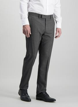 Charcoal Grey Prince Of Wales Check Slim Leg Suit Trousers