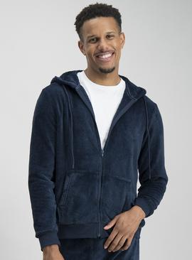 Online Exclusive Navy Fleece Hoodie