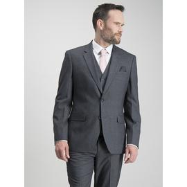 Charcoal Prince Of Wales Check Slim Fit Suit Jacket