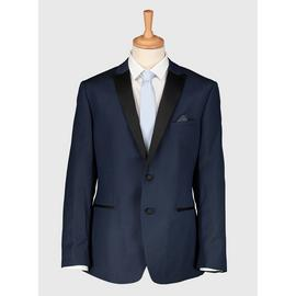 Online Exclusive Navy Skinny Fit Tuxedo Jacket